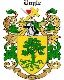 BOYLE family crest