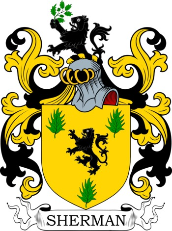 SHERMAN family crest