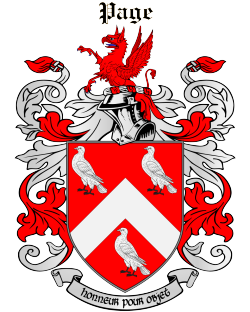 PAGE family crest